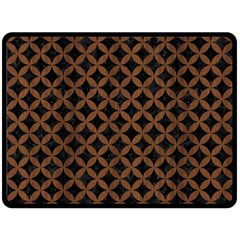 Circles3 Black Marble & Brown Wood Double Sided Fleece Blanket (large) by trendistuff