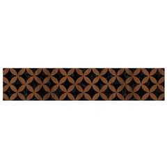 Circles3 Black Marble & Brown Wood Flano Scarf (small) by trendistuff