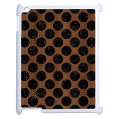 Circles2 Black Marble & Brown Wood (r) Apple Ipad 2 Case (white) by trendistuff