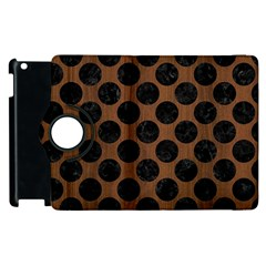 Circles2 Black Marble & Brown Wood (r) Apple Ipad 2 Flip 360 Case by trendistuff
