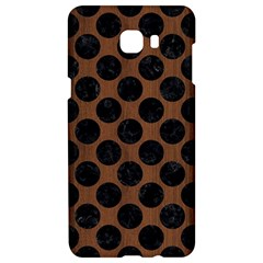 Circles2 Black Marble & Brown Wood (r) Samsung C9 Pro Hardshell Case  by trendistuff