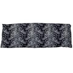 Black Floral Lace Pattern Body Pillow Case (dakimakura) by paulaoliveiradesign