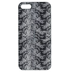 Black Floral Lace Pattern Apple Iphone 5 Hardshell Case With Stand by paulaoliveiradesign