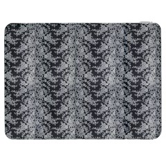 Black Floral Lace Pattern Samsung Galaxy Tab 7  P1000 Flip Case by paulaoliveiradesign