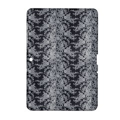 Black Floral Lace Pattern Samsung Galaxy Tab 2 (10 1 ) P5100 Hardshell Case  by paulaoliveiradesign
