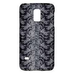 Black Floral Lace Pattern Galaxy S5 Mini by paulaoliveiradesign
