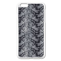 Black Floral Lace Pattern Apple Iphone 6 Plus/6s Plus Enamel White Case by paulaoliveiradesign