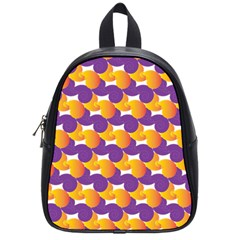 Purple And Yellow Abstract Pattern School Bags (small)