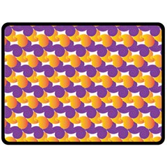 Purple And Yellow Abstract Pattern Fleece Blanket (large)  by paulaoliveiradesign