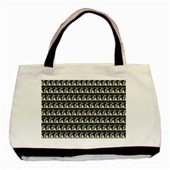 Colorful Pop Art Monkey Pattern Basic Tote Bag by paulaoliveiradesign