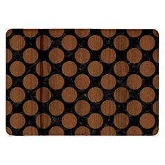 Circles2 Black Marble & Brown Wood Samsung Galaxy Tab 8 9  P7300 Flip Case by trendistuff