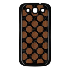 Circles2 Black Marble & Brown Wood Samsung Galaxy S3 Back Case (black) by trendistuff