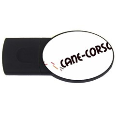 Cane Corso Mashup Usb Flash Drive Oval (2 Gb) by TailWags