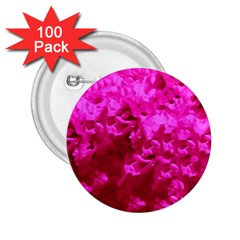 Hot Pink Floral Pattern 2 25  Buttons (100 Pack)