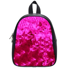 Hot Pink Floral Pattern School Bags (small)