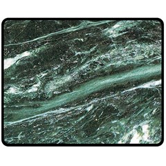 Green Marble Stone Texture Emerald  Fleece Blanket (medium)  by paulaoliveiradesign