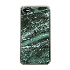 Green Marble Stone Texture Emerald  Apple Iphone 4 Case (clear) by paulaoliveiradesign