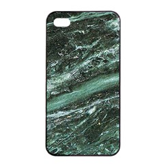 Green Marble Stone Texture Emerald  Apple Iphone 4/4s Seamless Case (black) by paulaoliveiradesign