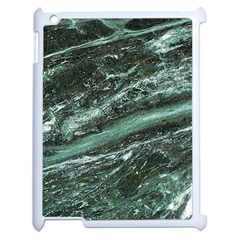 Green Marble Stone Texture Emerald  Apple Ipad 2 Case (white) by paulaoliveiradesign