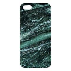 Green Marble Stone Texture Emerald  Apple Iphone 5 Premium Hardshell Case by paulaoliveiradesign