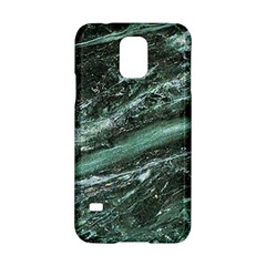 Green Marble Stone Texture Emerald  Samsung Galaxy S5 Hardshell Case  by paulaoliveiradesign