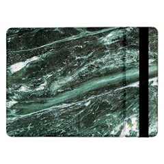Green Marble Stone Texture Emerald  Samsung Galaxy Tab Pro 12 2  Flip Case by paulaoliveiradesign