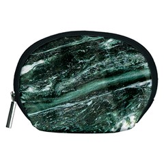 Green Marble Stone Texture Emerald  Accessory Pouches (medium)  by paulaoliveiradesign