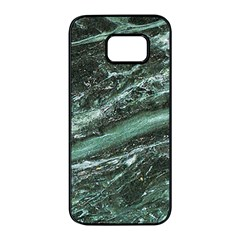 Green Marble Stone Texture Emerald  Samsung Galaxy S7 Edge Black Seamless Case by paulaoliveiradesign