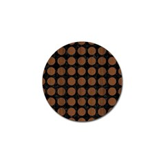 Circles1 Black Marble & Brown Wood Golf Ball Marker (10 Pack) by trendistuff