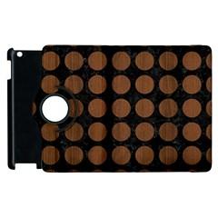 Circles1 Black Marble & Brown Wood Apple Ipad 2 Flip 360 Case by trendistuff