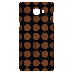 Circles1 Black Marble & Brown Wood Samsung C9 Pro Hardshell Case  by trendistuff