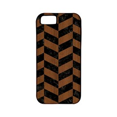 Chevron1 Black Marble & Brown Wood Apple Iphone 5 Classic Hardshell Case (pc+silicone) by trendistuff
