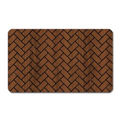 Brick2 Black Marble & Brown Wood (r) Magnet (rectangular) by trendistuff
