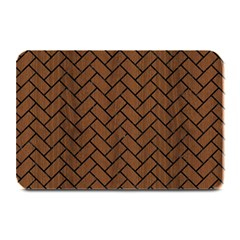 Brick2 Black Marble & Brown Wood (r) Plate Mat by trendistuff