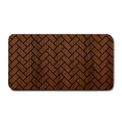 Brick2 Black Marble & Brown Wood (r) Medium Bar Mat by trendistuff