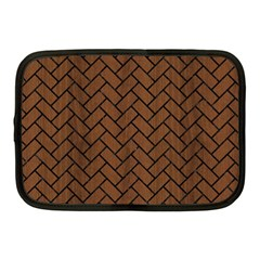 Brick2 Black Marble & Brown Wood (r) Netbook Case (medium) by trendistuff