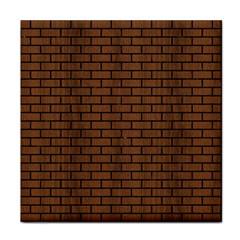 Brick1 Black Marble & Brown Wood (r) Tile Coaster by trendistuff