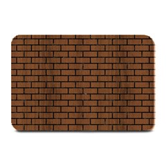 Brick1 Black Marble & Brown Wood (r) Plate Mat by trendistuff