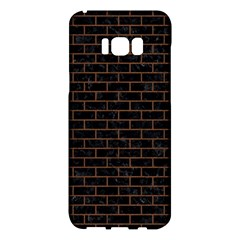 Brick1 Black Marble & Brown Wood Samsung Galaxy S8 Plus Hardshell Case  by trendistuff