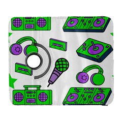 Green Music Pattern Galaxy S3 (flip/folio) by TheLimeGreenFlamingo