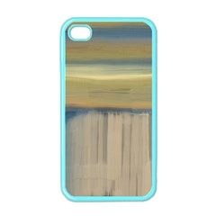 Denim Blue And Buttercream Apple Iphone 4 Case (color) by theunrulyartist