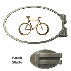 Elegant Gold Look Bicycle Cycling  Money Clips (oval)  by yoursparklingshop