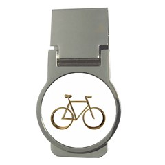 Elegant Gold Look Bicycle Cycling  Money Clips (round)  by yoursparklingshop
