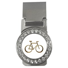 Elegant Gold Look Bicycle Cycling  Money Clips (cz)  by yoursparklingshop