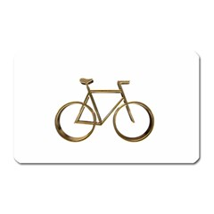 Elegant Gold Look Bicycle Cycling  Magnet (rectangular) by yoursparklingshop