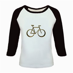 Elegant Gold Look Bicycle Cycling  Kids Baseball Jerseys by yoursparklingshop