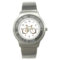 Elegant Gold Look Bicycle Cycling  Stainless Steel Watch by yoursparklingshop