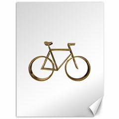Elegant Gold Look Bicycle Cycling  Canvas 36  X 48   by yoursparklingshop