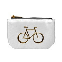 Elegant Gold Look Bicycle Cycling  Mini Coin Purses by yoursparklingshop