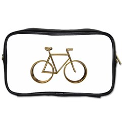 Elegant Gold Look Bicycle Cycling  Toiletries Bags 2 Side by yoursparklingshop